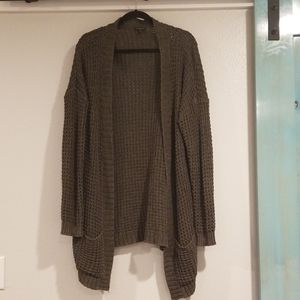 Olive Green Express Open Cardigan